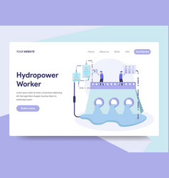 landing page template hydropower energy vector image