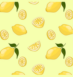 light summer fruit pattern vector image