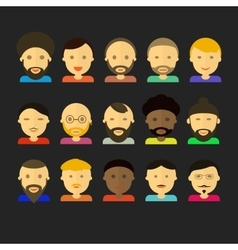 Men appearance icons people flat icons collection vector