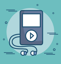 Mp3 player isolated icon vector