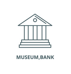 museumbank line icon linear concept vector image