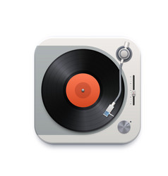 music vinyl disk player interface icon gramophone vector image