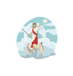 mythology greece olympus legend religion vector image