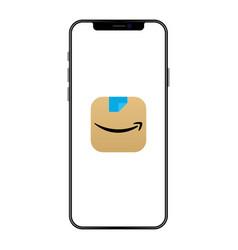 New amazon app icon on screen iphone vector