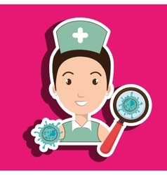 Nurse service search healthy vector