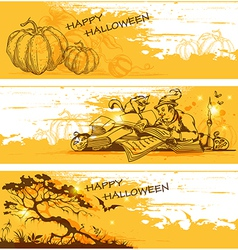 orange halloween banners vector image