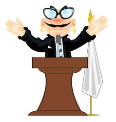 Orator on tribune vector