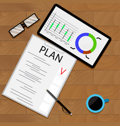 planning statistical forecast vector image