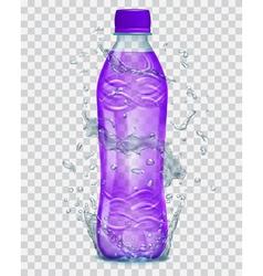 Plastic bottle with juice vector