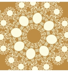 Print in oriental style of light brown sepia color vector image