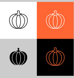 pumpkin thin linear simple icon adjustable line vector image