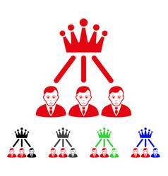 sad hierarchy men icon vector image