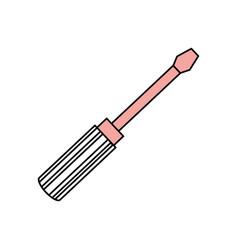 Screwdriver construction tool vector