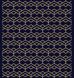 seamless pattern with golden line ornament vector image