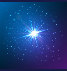 Shining star glow light effect vector