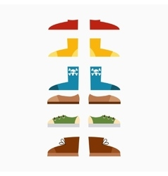 Sneakers fashion sport casual shoes set vector image