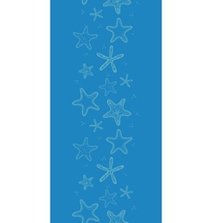 Starfish blue texture vertical seamless pattern vector image