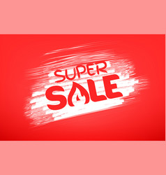 super sale banner template hot price concept vector image