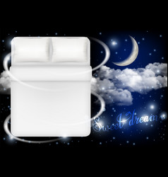 sweet dreams concept realistic vector image