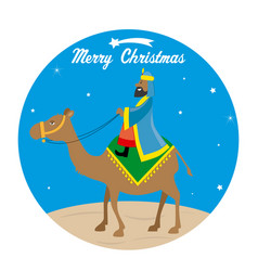 The wise men baltasar on camel vector
