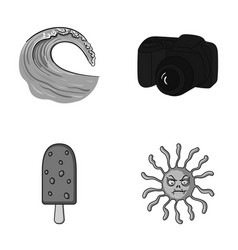travel desert and other monochrome icon in vector image