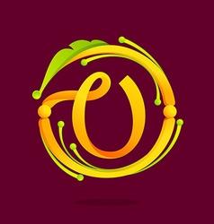 V letter monogram design elements vector