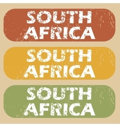 Vintage South Africa stamp set vector image
