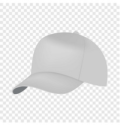 white cap side view mockup realistic style vector image vector image