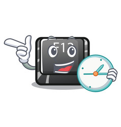 with clock button f12 isolated in character vector image
