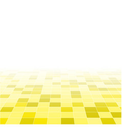 yellow random background from squares mosaic tiles vector image