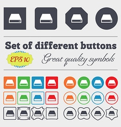CD-ROM icon sign Big set of colorful diverse vector image