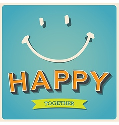 Happy and smile face retro poster EPS10 vector image vector image