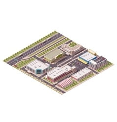 isometric shopping district vector image vector image