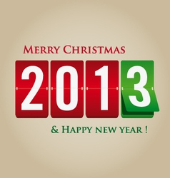 Merry Christmas and happy new year 2013 mechanical vector image vector image