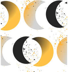 moon phases crescent growth abstract seamless vector image