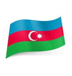 National flag of azerbaijan blue red and green vector