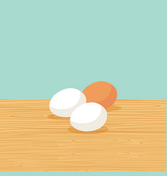 natural farm eggs on the table vector image vector image
