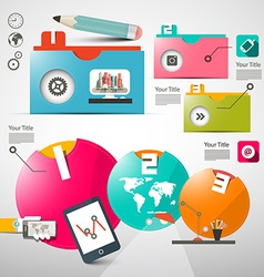 Paper Infographics Layout - Web Design or Brochure vector image