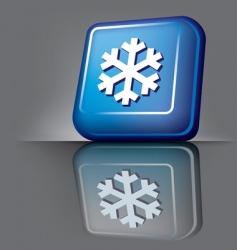 snowflake button vector image