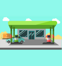 filling station working colorful vector image