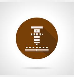 high precision laser brown round icon vector image vector image