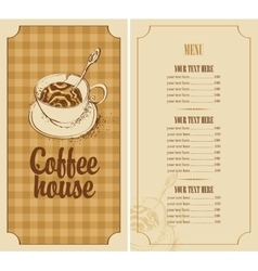 menu for a coffee house vector image