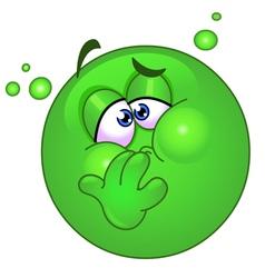 nauseous emoticon vector image