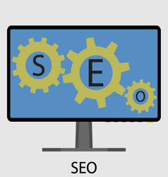 SEO icon flat design vector image