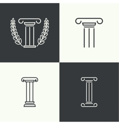 Antique column Pedestal vector image