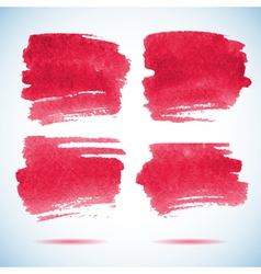 Brushstroke banners Ink red watercolor spot vector image vector image