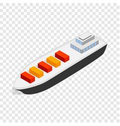 cargo ship isometric icon vector image vector image