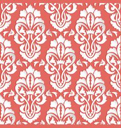 Damask seamless pattern backfround elegant luxury vector