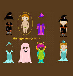 Fancy dresses collection for girl vector image vector image