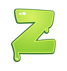 slimy font type letter z vector image vector image
